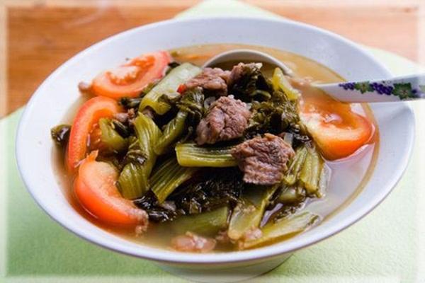công thức làm canh dưa chua thịt bò